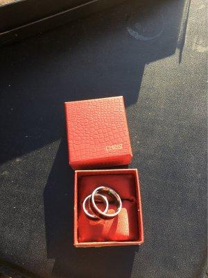 edelstahl Partner Ring black-silver-colored