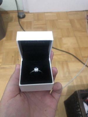 Pandora Pierścionek dla par srebrny-biały