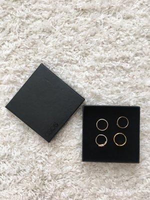 Asos Gouden ring roségoud-goud