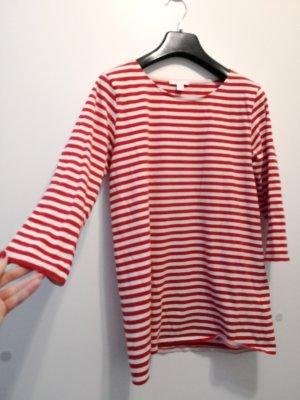COS Camisa de rayas rojo-blanco tejido mezclado