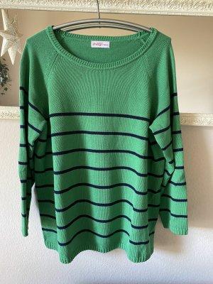 Ulla Popken Wool Sweater dark blue-green
