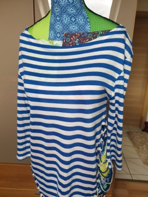 Siok Stripe Shirt white-blue
