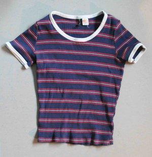 H&M Divided Koszulka w paski Wielokolorowy Bawełna