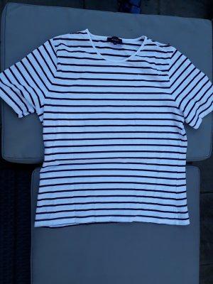 Global T-shirt rayé blanc-noir