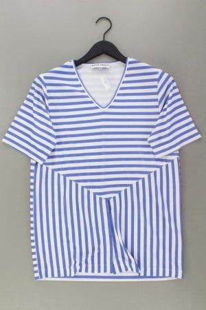 Koszulka w paski niebieski-niebieski neonowy-ciemnoniebieski-błękitny