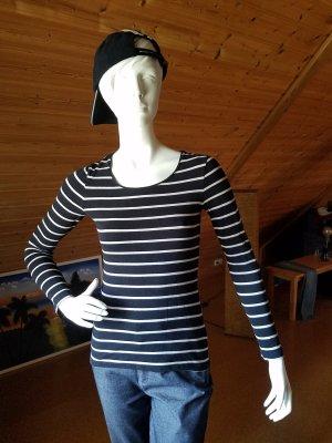 H&M Stripe Shirt white-black