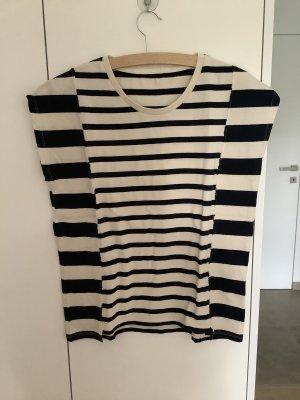 Closed Stripe Shirt dark blue-oatmeal