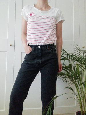 Tom Tailor Stripe Shirt white-brick red cotton