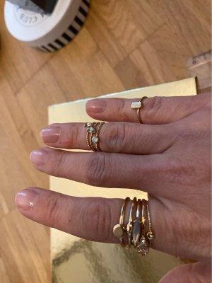 H&M Anillo de cuentas color oro
