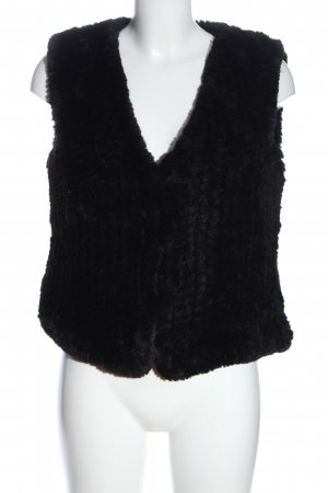 Rino & Pelle Fake Fur Vest black casual look