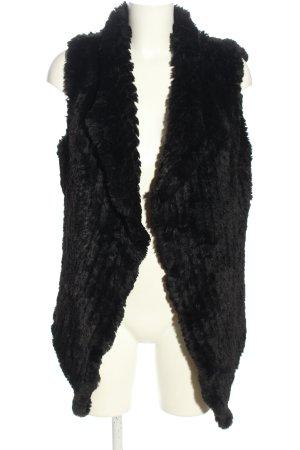 Rino & Pelle Fake Fur Vest black casual look