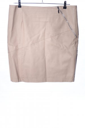 Rino & Pelle Faux Leather Skirt cream casual look