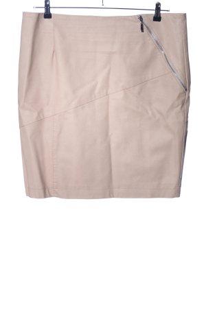 Rino & Pelle Falda de cuero de imitación crema look casual