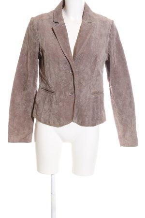 Rino & Pelle Leder-Blazer bronzefarben Business-Look