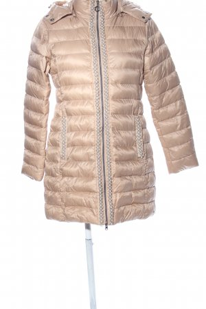 Rino & Pelle Quilted Coat nude striped pattern casual look