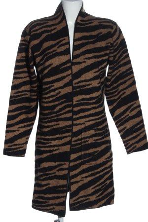 Rino & Pelle Cappotto a maglia nero-marrone stile casual