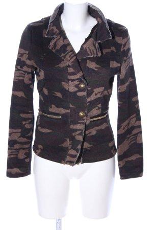Rino & Pelle Sweat Blazer brown-khaki camouflage pattern street-fashion look