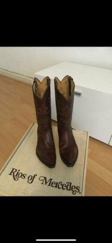 Rios of Mercedes Riding Boots bronze-colored leather