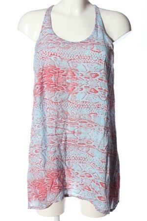 Rip curl Top long bleu-rose imprimé allover style décontracté