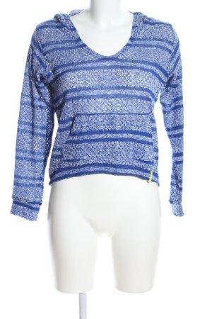 Rip curl Kapuzenpullover blau-weiß meliert Casual-Look