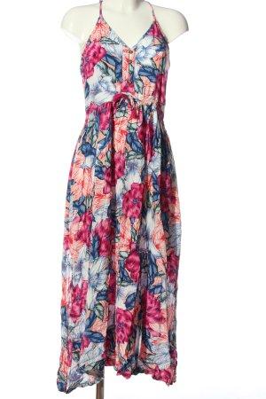Rip curl Robe mi-longue rose-bleu imprimé allover style décontracté