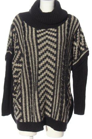 Rip curl Jersey de cuello alto negro-blanco puro estampado gráfico look casual