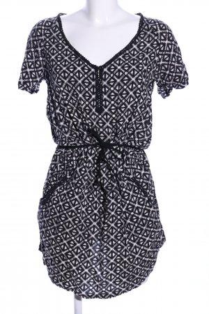 Rip curl Shirtkleid schwarz-weiß Allover-Druck Casual-Look