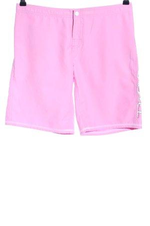 Rip curl Shorts pink Schriftzug gedruckt Casual-Look