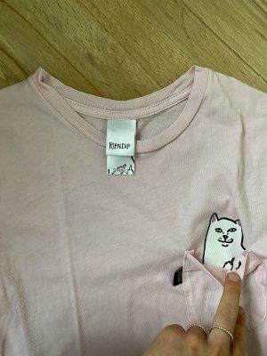 RIPNDIP Batik shirt lichtroze-rosé