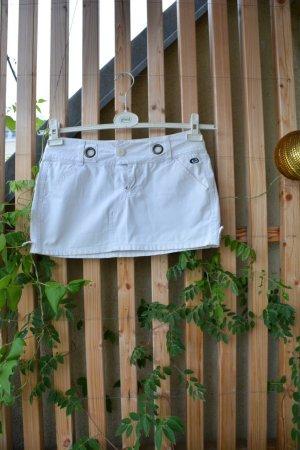 Rip curl Mini-jupe blanc coton