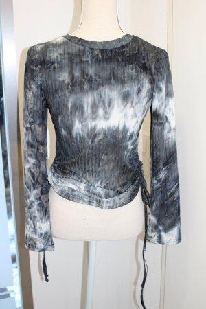 Chemise côtelée blanc-gris anthracite