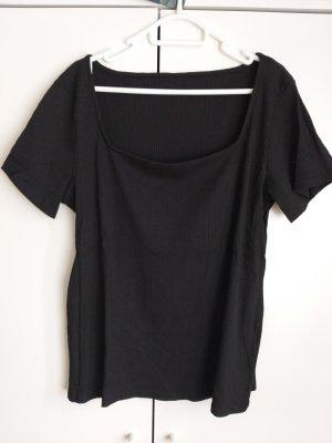 Takko Fashion Camisa acanalada negro