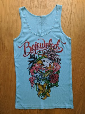 Bejeweled Tank Top magenta-light blue