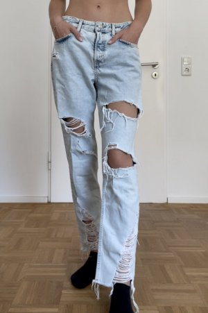 H&M Jeans boyfriend bleu azur