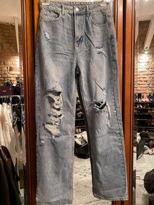 Boyfriend jeans lichtblauw-leigrijs