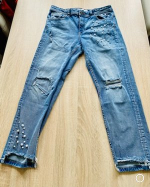 Zara Jeans a gamba dritta azzurro