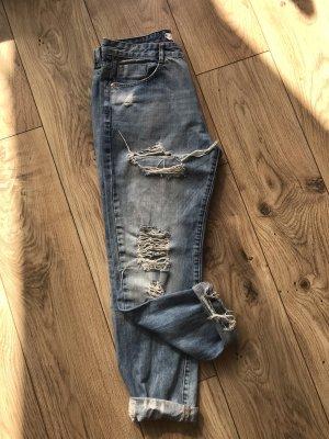Amisu Boyfriend jeans blauw