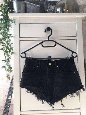 Ripped Hot Pants von Bershka schwarz