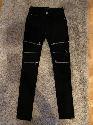 Forever 21 Jersey Pants black-gold-colored