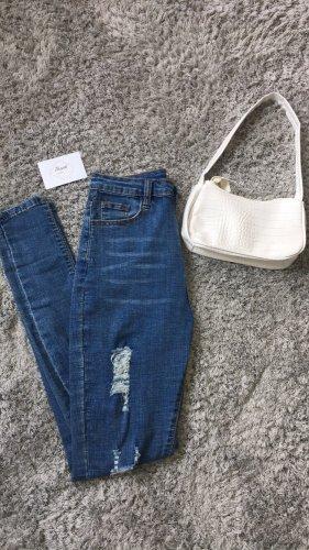 Sheinside Pantalone a vita alta blu acciaio