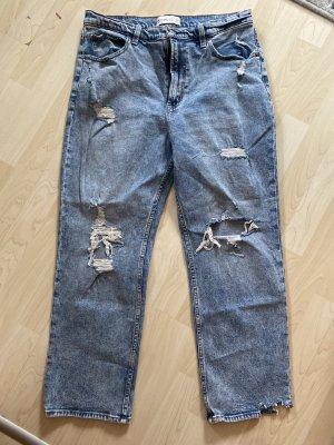 Abercrombie & Fitch Jeansy z prostymi nogawkami niebieski