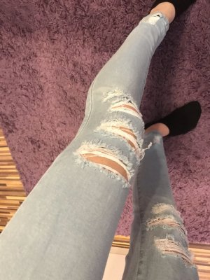 Parisian High Waist Jeans light blue-slate-gray