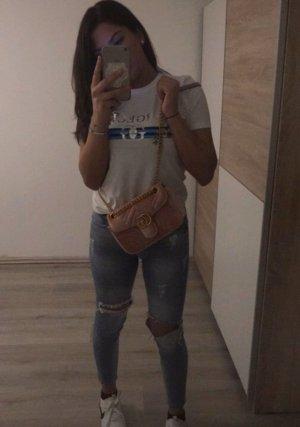Jeans cigarette bleu azur