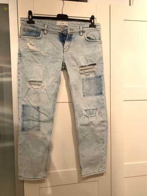 Ripped Jeans Boyfriend Mango cut-out washed out // ankle