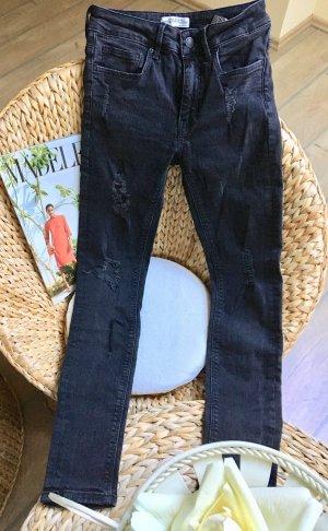 Ripped Jeans#dunkelgrau Zara!