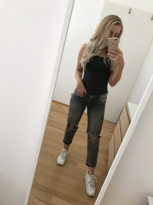 H&M Jeans taille basse gris