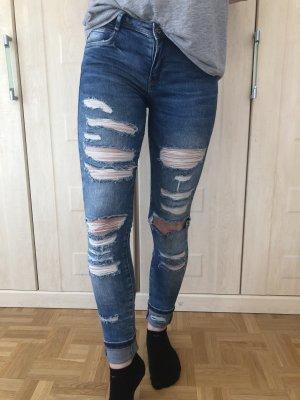 Zara Trafaluc Jeans elasticizzati multicolore