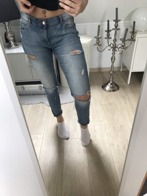H&M Hoge taille jeans blauw