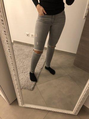 H&M Jeans stretch gris