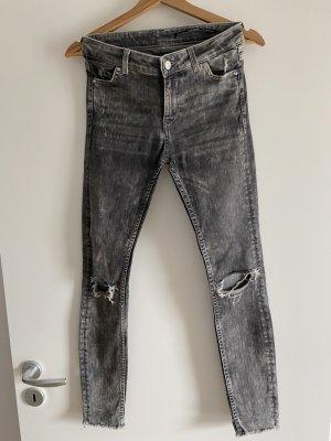 ripped Jeans grau Zara